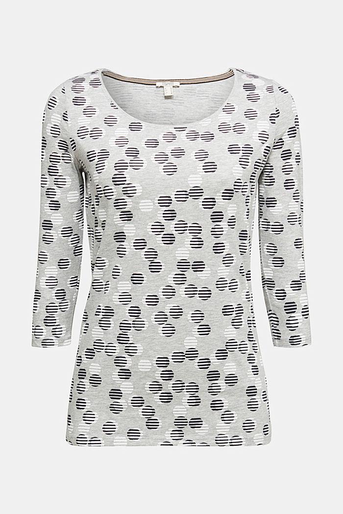 Print-Shirt mit Organic Cotton, LIGHT GREY, detail image number 6