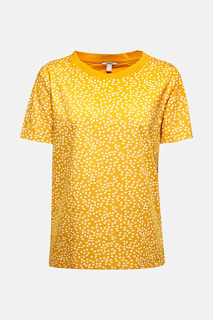 Recycled: printed T-shirt in 100% cotton, BRASS YELLOW, detail image number 5