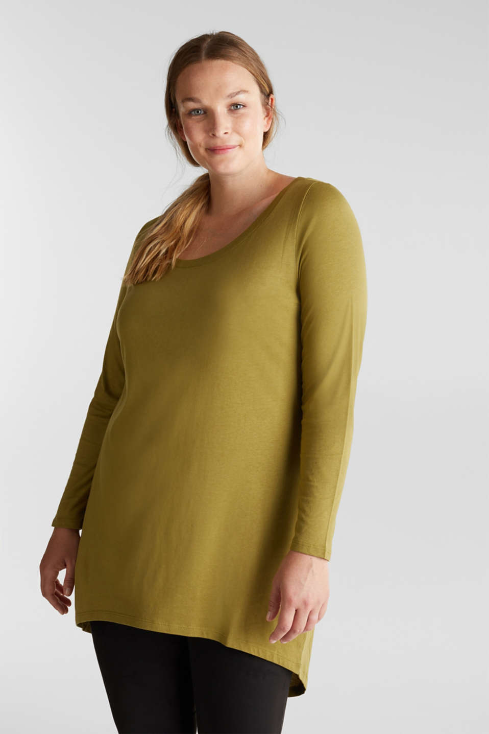 Esprit - Curvy long top with organic cotton