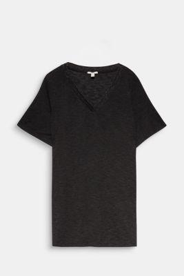 CURVY T-shirt with a glitter detail, BLACK, detail