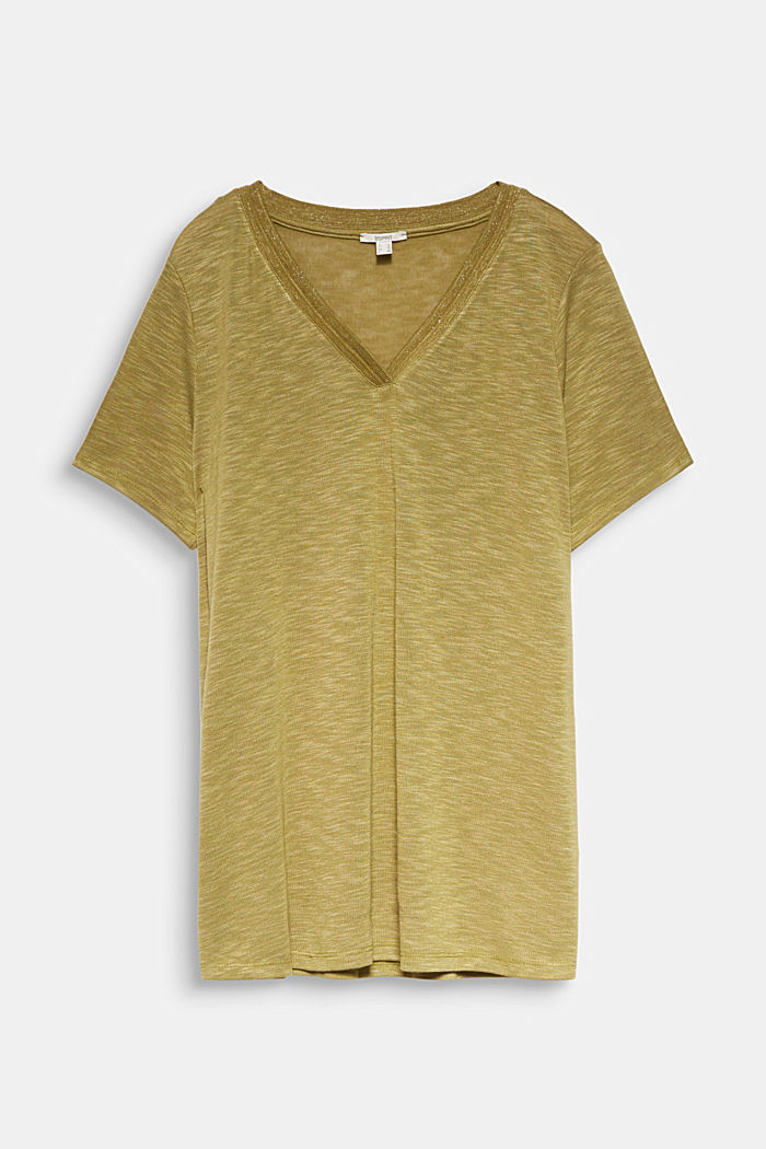 CURVY T-shirt with a glitter detail, OLIVE, detail image number 5