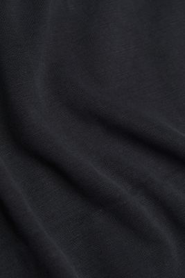 T-shirt with draped sleeves, DARK GREY, detail