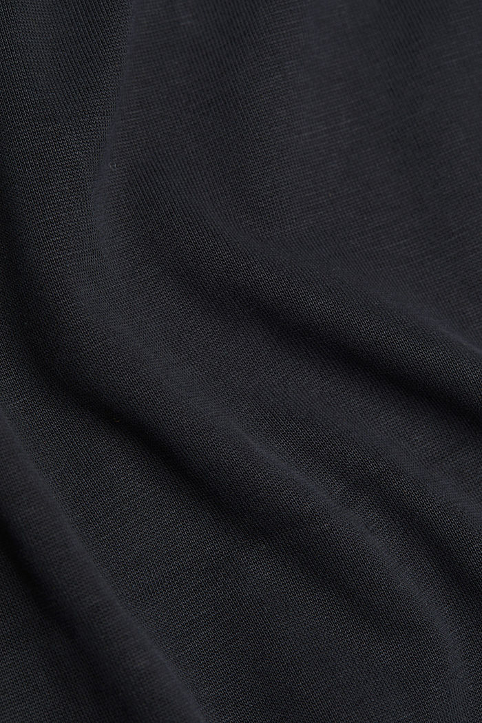 T-shirt with draped sleeves, DARK GREY, detail image number 4