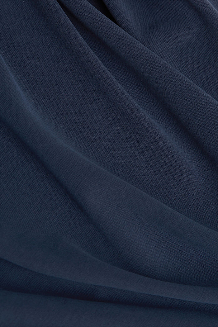 T-shirt with draped sleeves, NAVY, detail image number 4