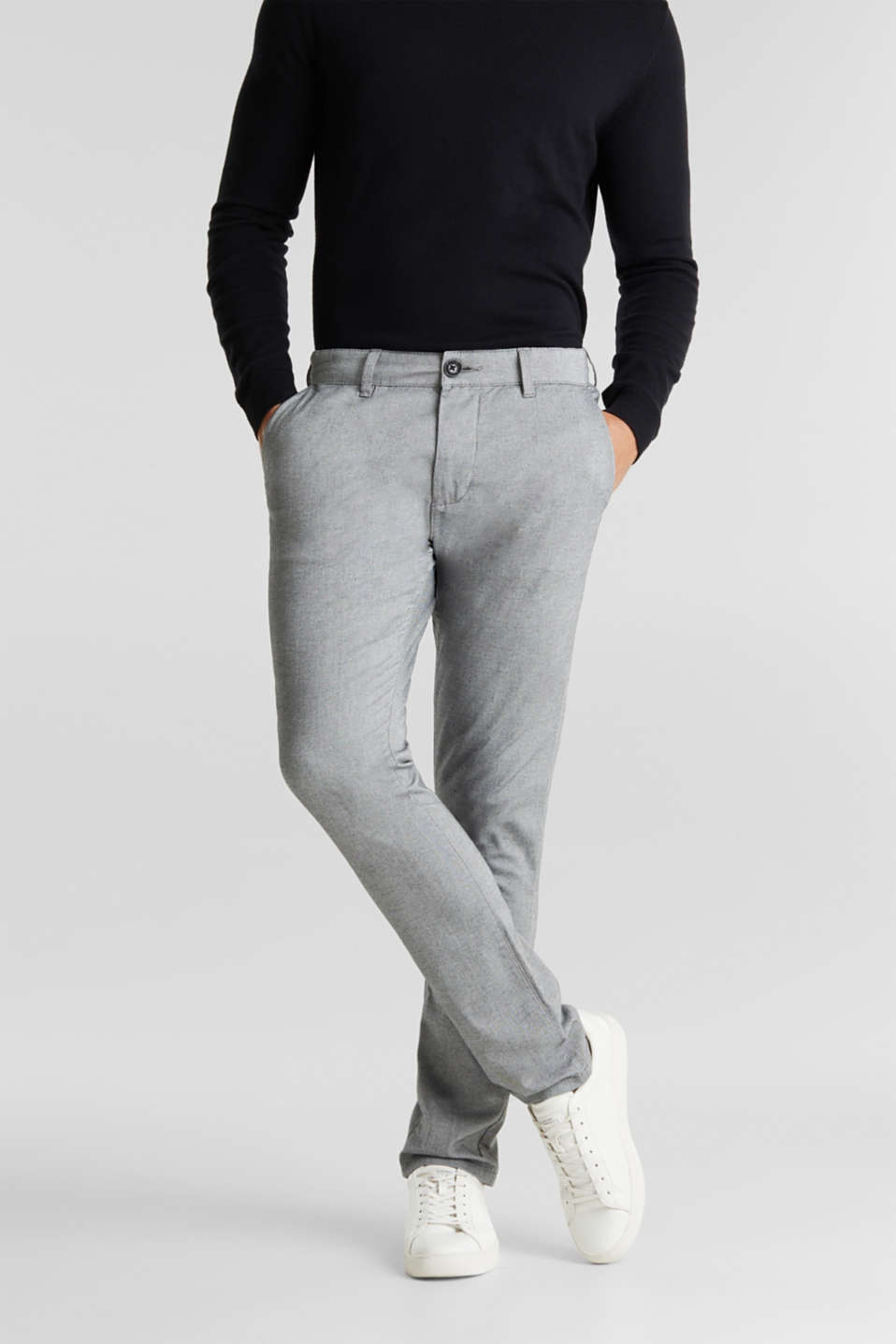 Esprit - Pantalon chino en coton stretch
