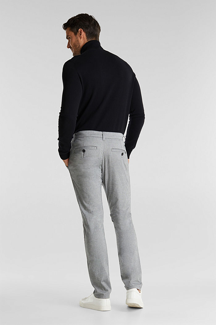 Stretch cotton chinos, LIGHT GREY, detail image number 3