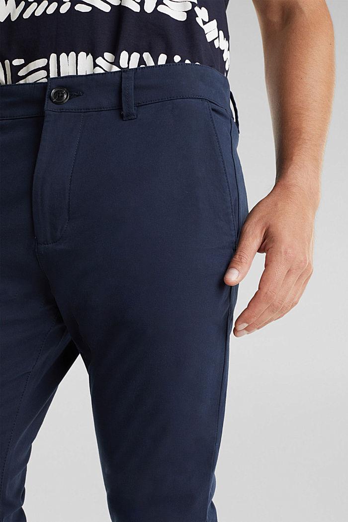 Stretch cotton chinos, DARK BLUE, detail image number 2