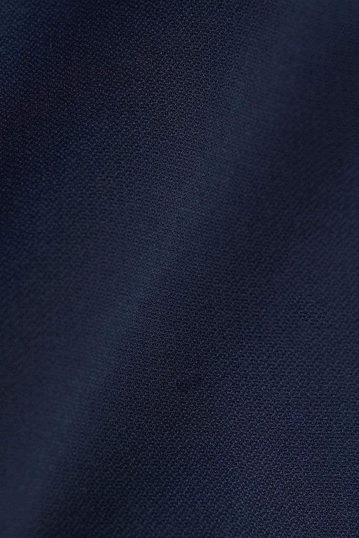 Stretch cotton chinos, DARK BLUE, detail image number 4