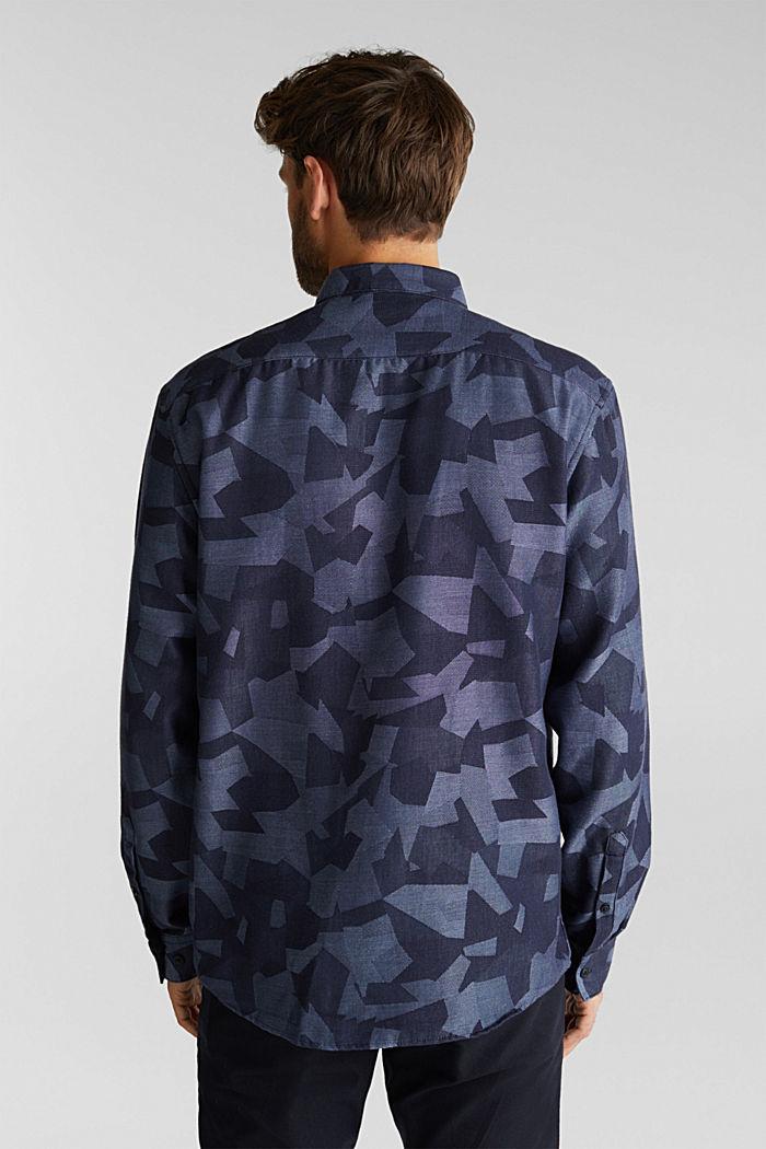 Recycelt: Hemd mit Organic Cotton, NAVY, detail image number 3