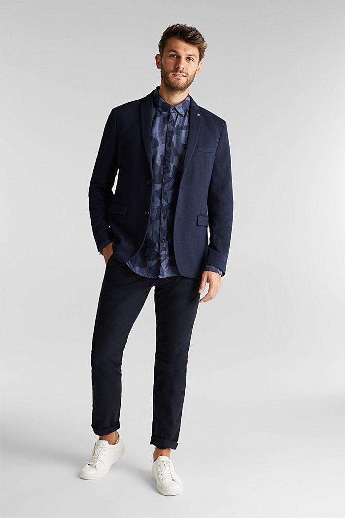 Recycelt: Hemd mit Organic Cotton, NAVY, detail image number 1