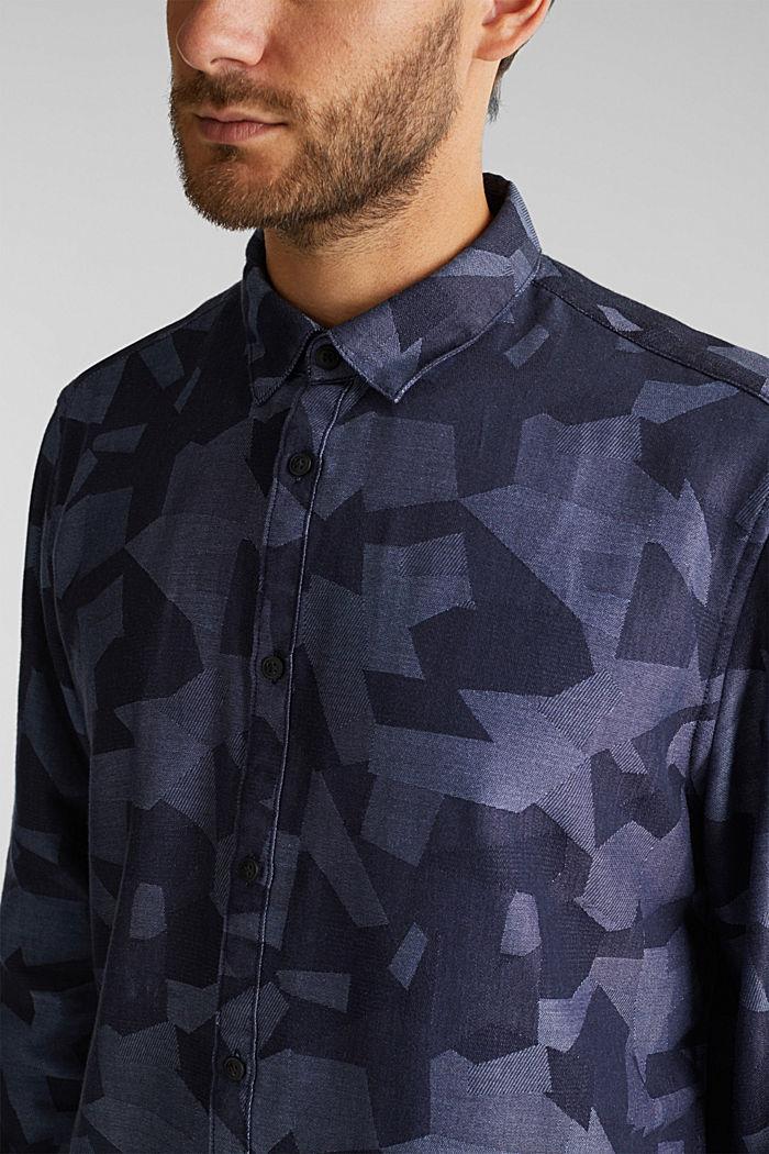 Recycelt: Hemd mit Organic Cotton, NAVY, detail image number 2