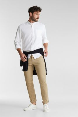 Textured shirt made of 100% organic, WHITE, detail