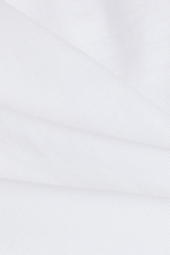 Textured shirt made of 100% organic, WHITE, detail image number 4