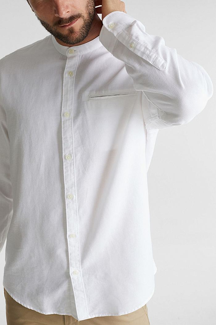 Struktur-Hemd aus 100% Organic Cotton, WHITE, detail image number 5