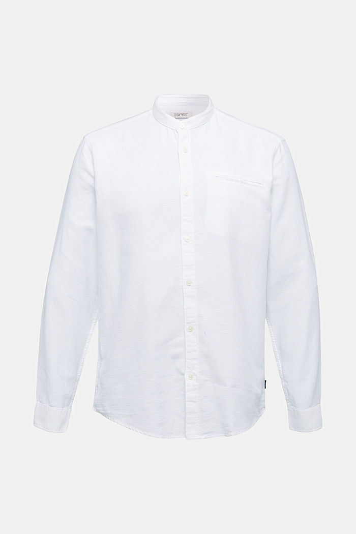 Textured shirt made of 100% organic, WHITE, detail image number 7