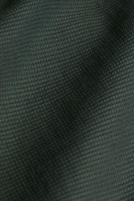 Textured shirt made of 100% organic, DARK KHAKI, detail