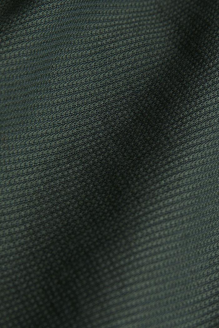Gestructureerd overhemd van 100% biologisch katoen, DARK KHAKI, detail image number 4