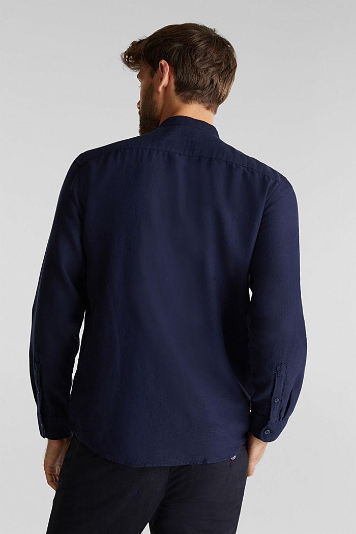 Struktur-Hemd aus 100% Organic Cotton, NAVY, detail image number 3