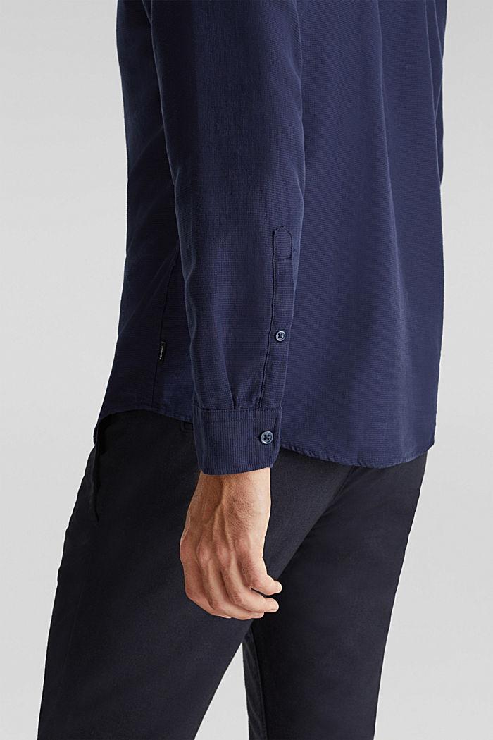 Struktur-Hemd aus 100% Organic Cotton, NAVY, detail image number 2