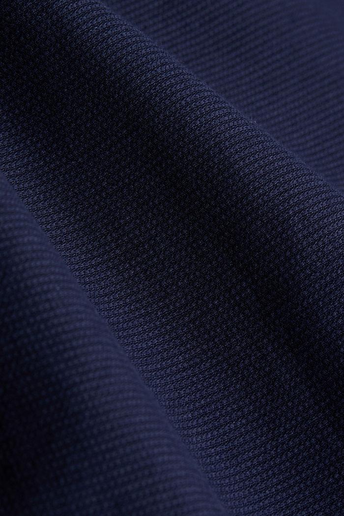 Struktur-Hemd aus 100% Organic Cotton, NAVY, detail image number 4