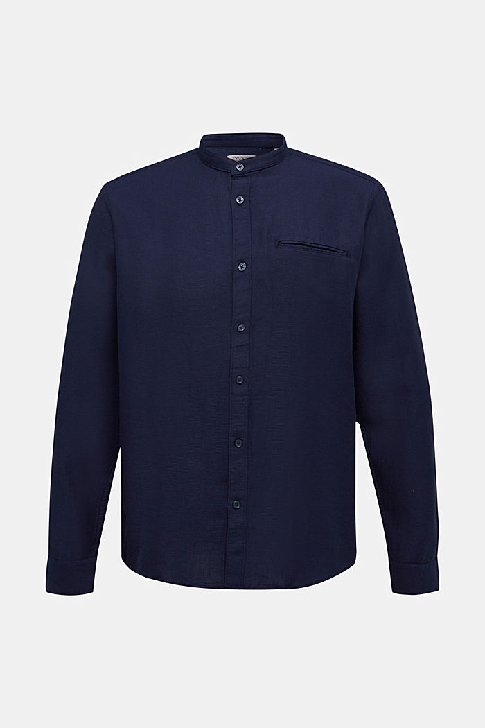 Textured shirt made of 100% organic, NAVY, detail image number 5