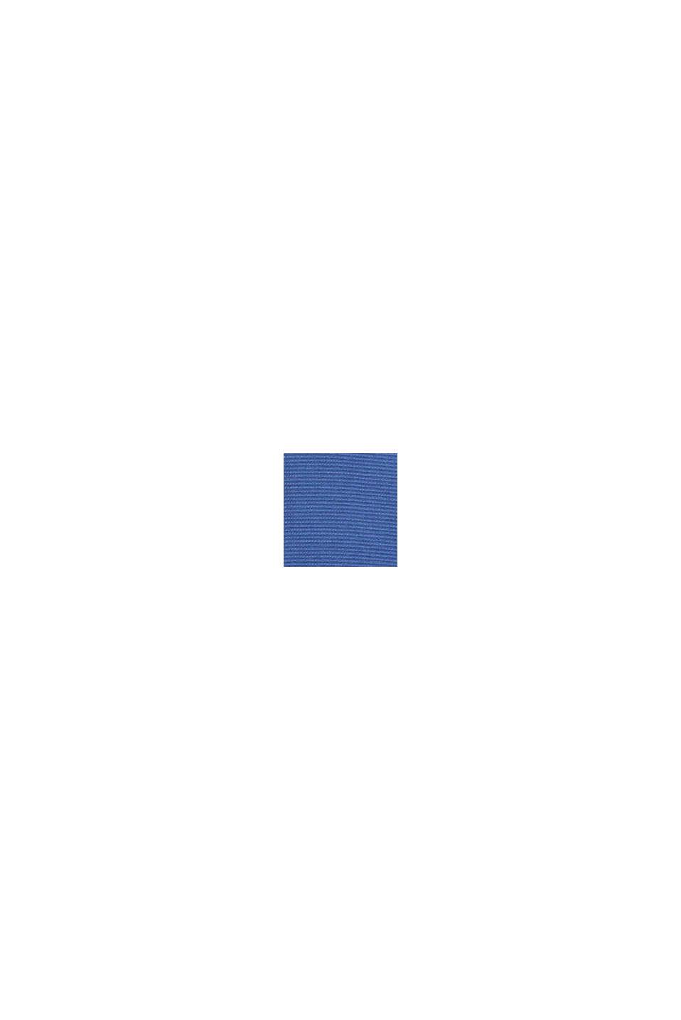Gestructureerd overhemd van 100% biologisch katoen, GREY BLUE, swatch