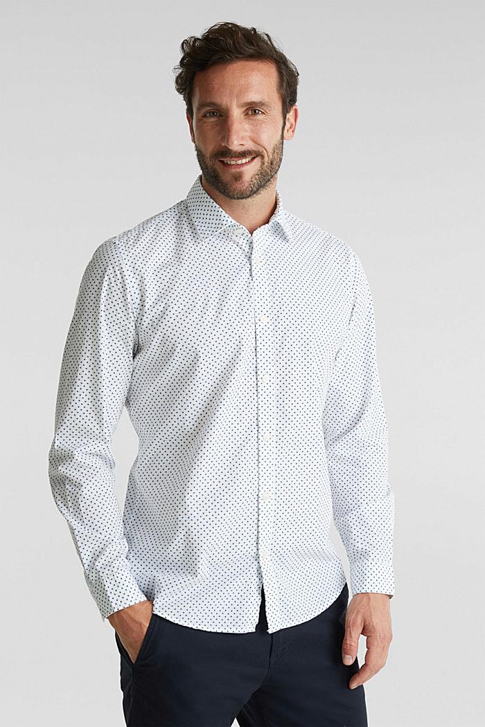 Print shirt made of 100% organic, WHITE, detail image number 0
