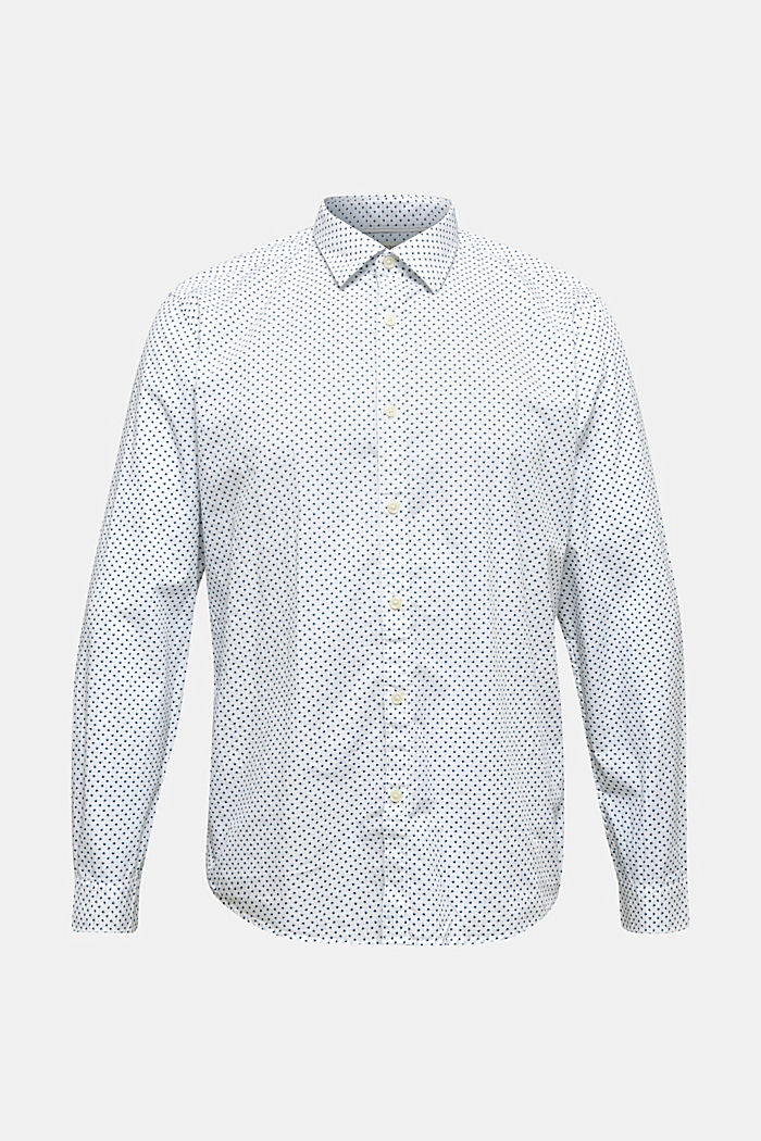 Print shirt made of 100% organic, WHITE, overview