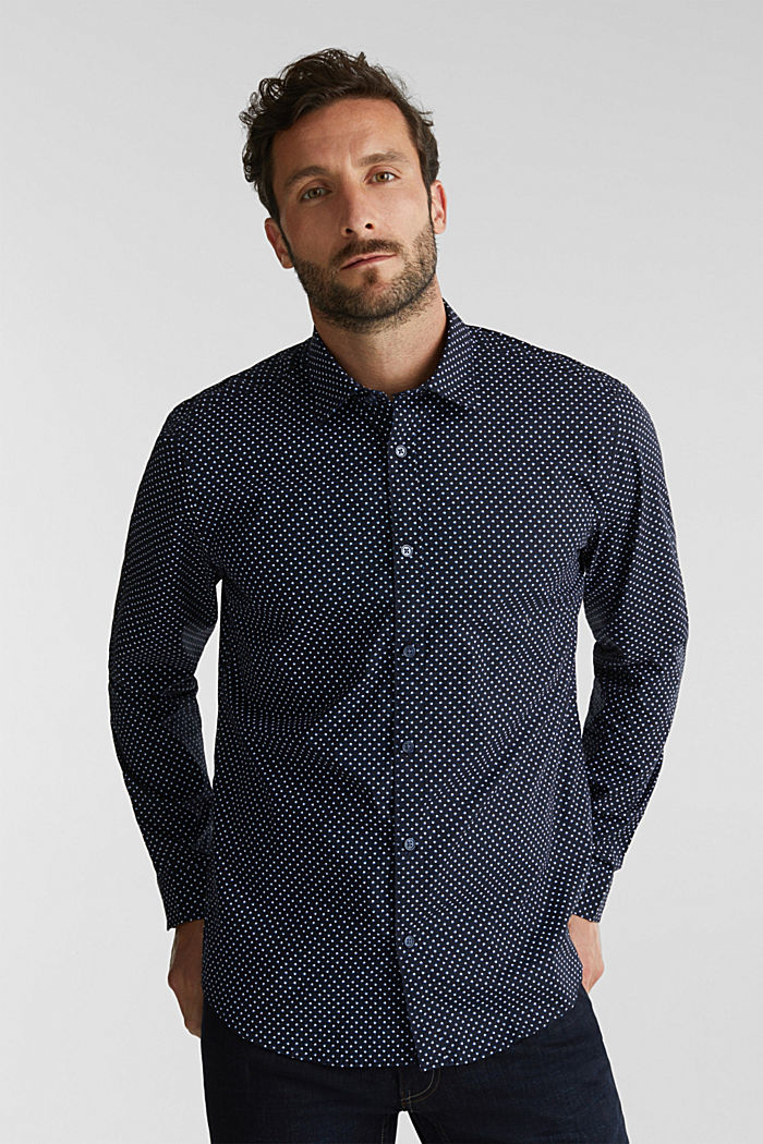 Print shirt made of 100% organic, NAVY, detail image number 0