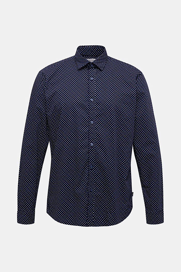 Print shirt made of 100% organic, NAVY, detail image number 7