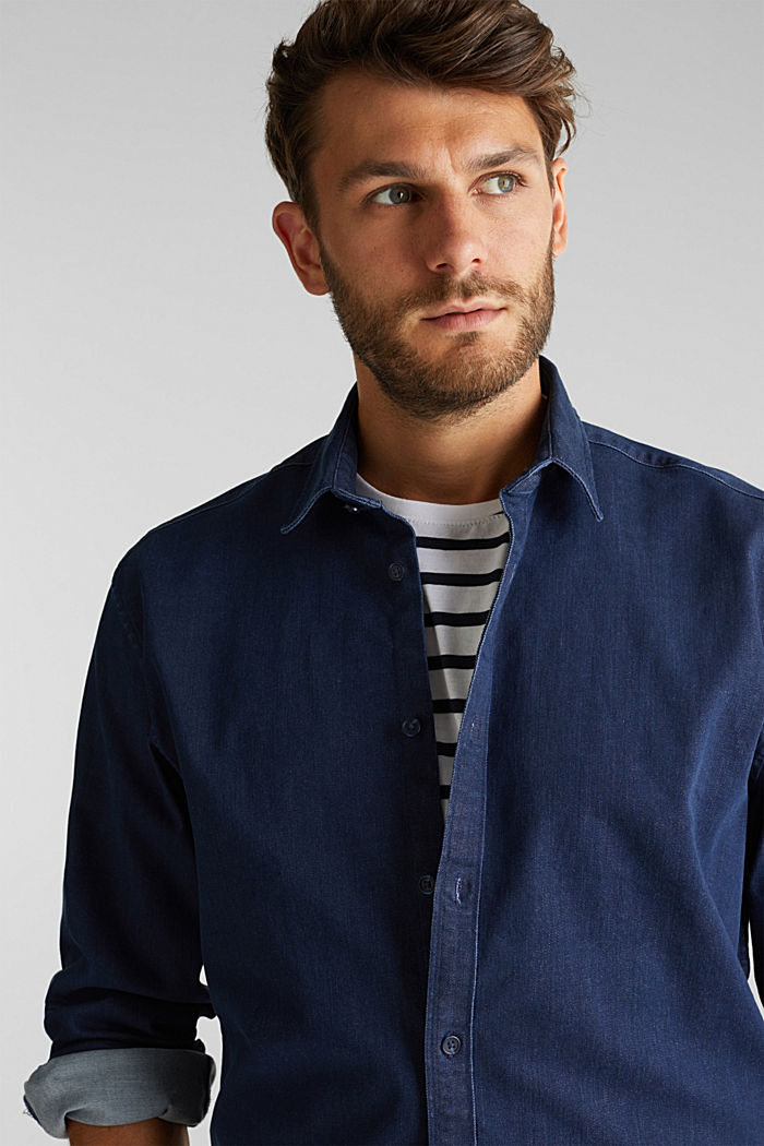 Recycled: denim shirt with organic cotton