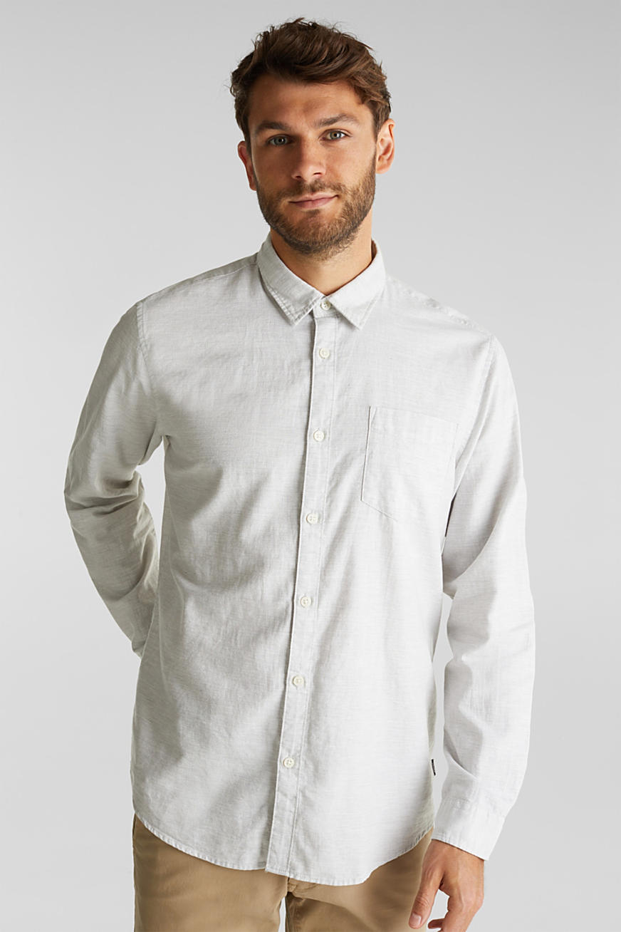 Textured shirt, 100% organic cotton