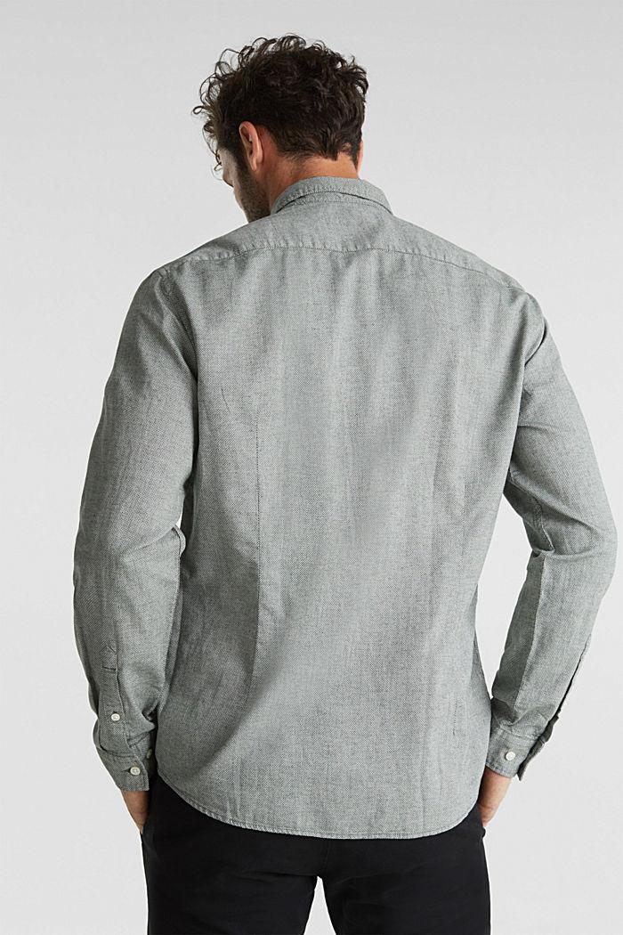 Textured shirt, 100% organic cotton, LIGHT KHAKI, detail image number 2