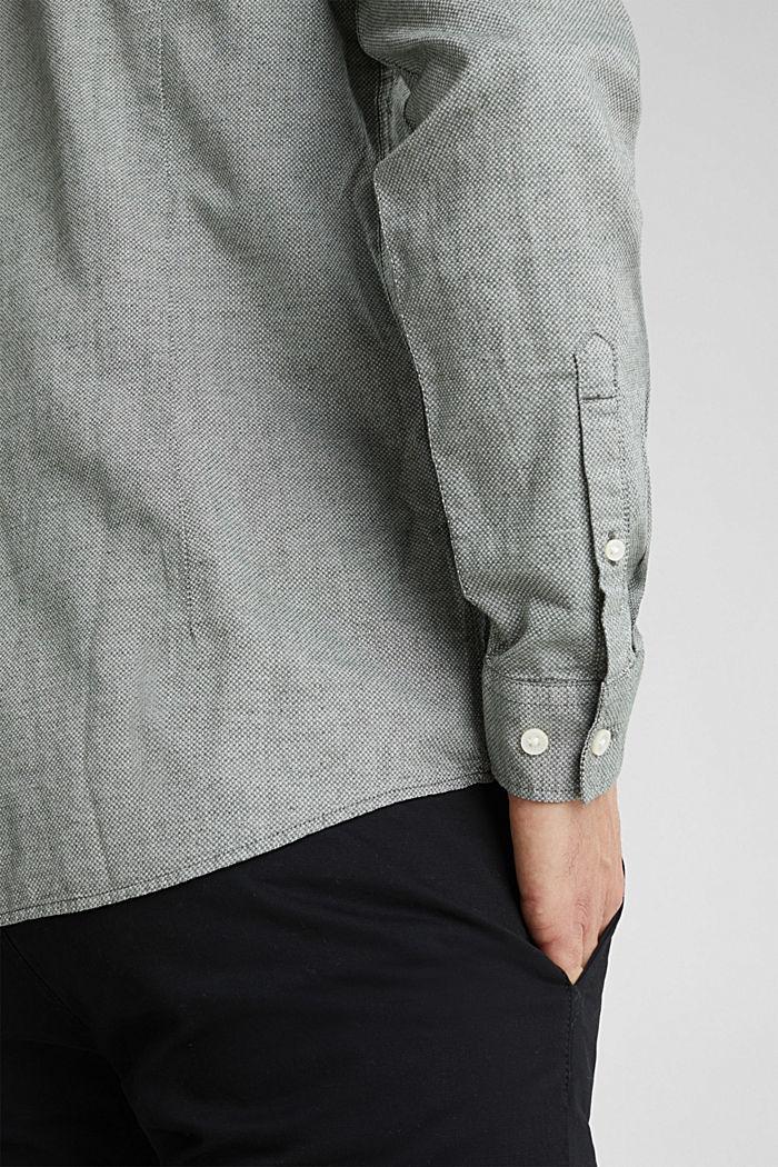 Textured shirt, 100% organic cotton, LIGHT KHAKI, detail image number 4