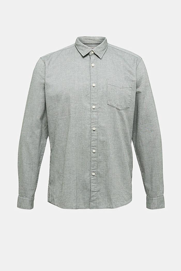 Textured shirt, 100% organic cotton, LIGHT KHAKI, detail image number 6