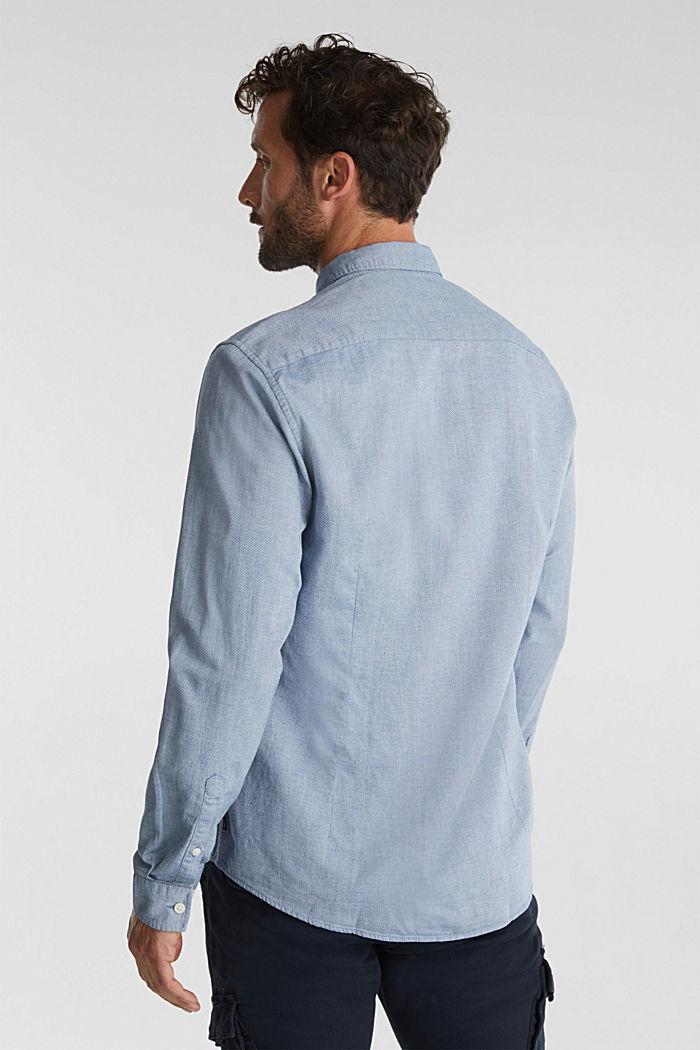 Textured shirt, 100% organic cotton, GREY BLUE, detail image number 3