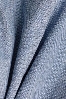 Textured shirt, 100% organic cotton, GREY BLUE 5, detail