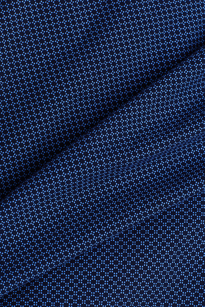 Print-Hemd aus 100% Organic Cotton, NAVY, detail image number 4