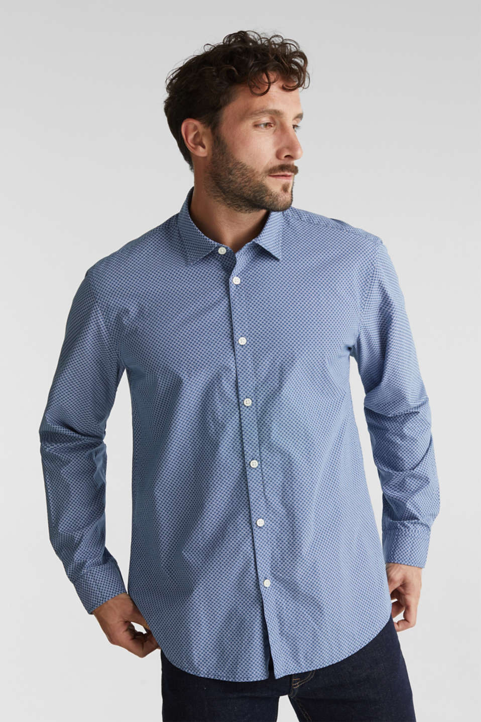 Esprit - Print shirt made of 100% organic