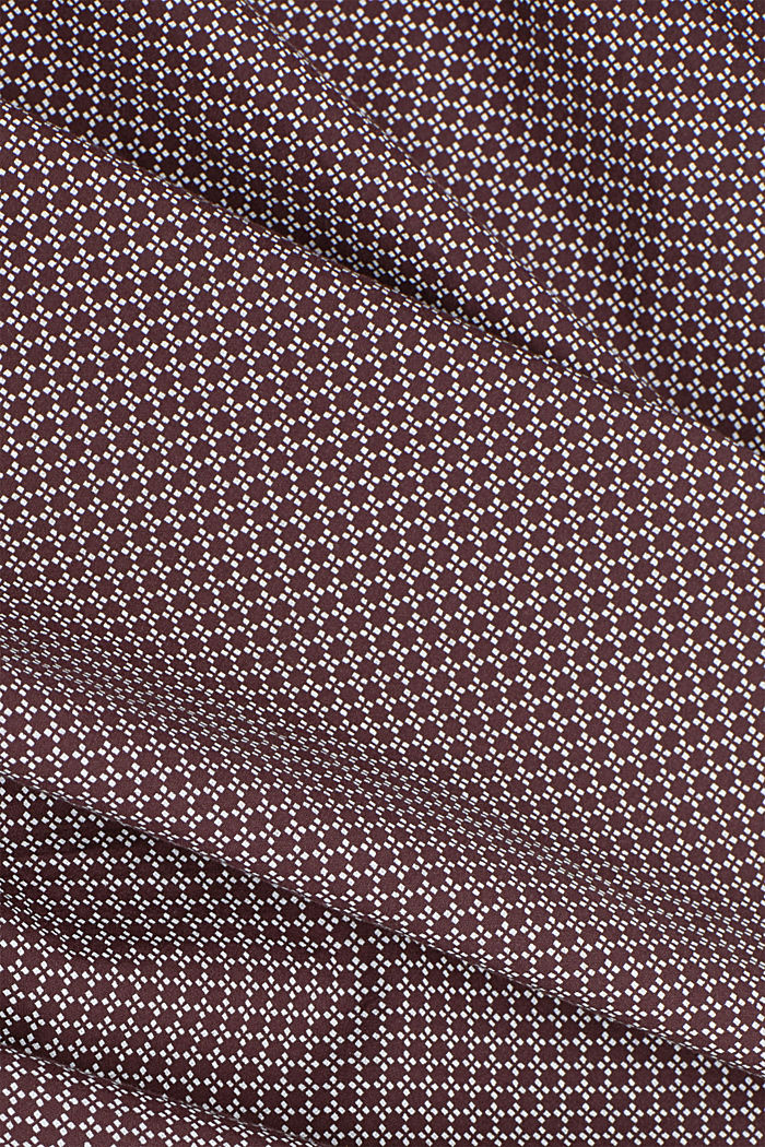 Print-Hemd aus 100% Organic Cotton, BORDEAUX RED, detail image number 4