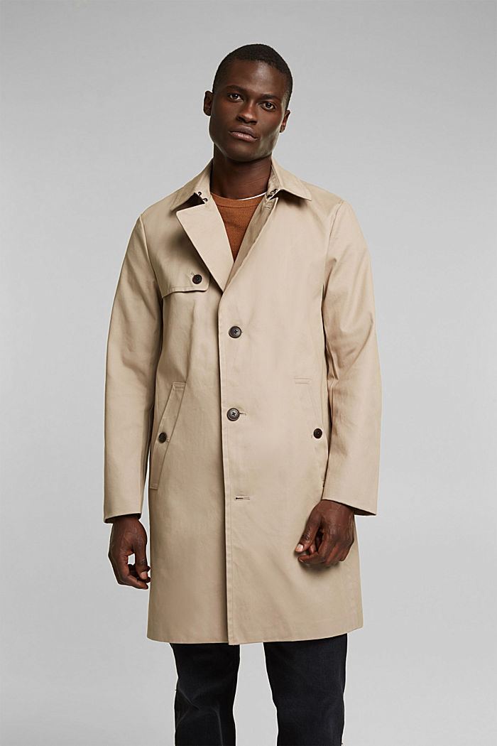 Trenchcoat aus Organic Cotton, BEIGE, detail image number 0