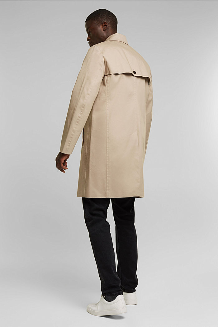 Trenchcoat aus Organic Cotton, BEIGE, detail image number 3