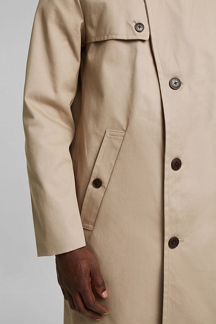 Trenchcoat aus Organic Cotton, BEIGE, detail image number 2