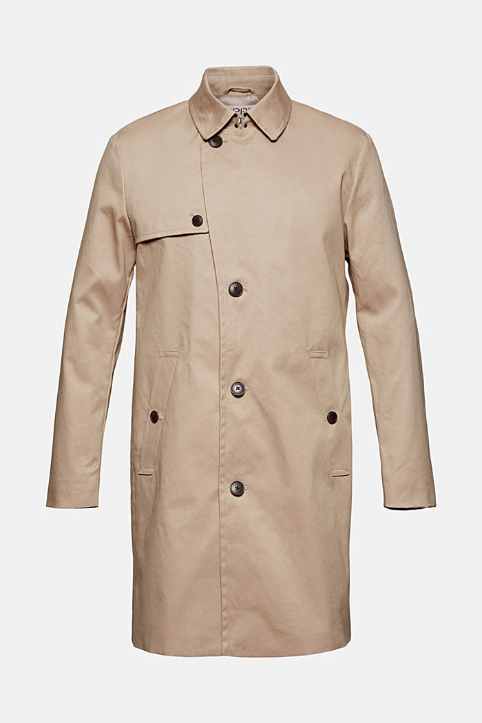 Trench coat made of organic cotton