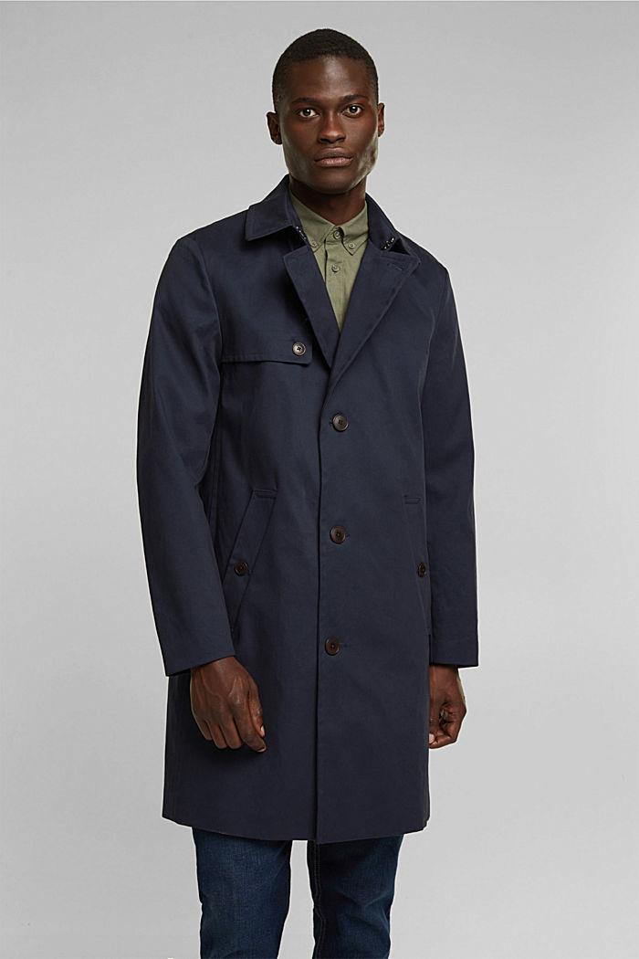 Trenchcoat aus Organic Cotton, DARK BLUE, detail image number 0