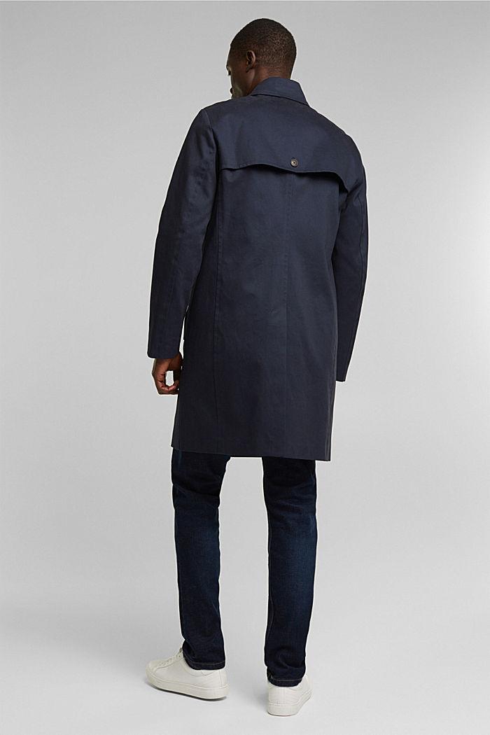 Trenchcoat aus Organic Cotton, DARK BLUE, detail image number 3