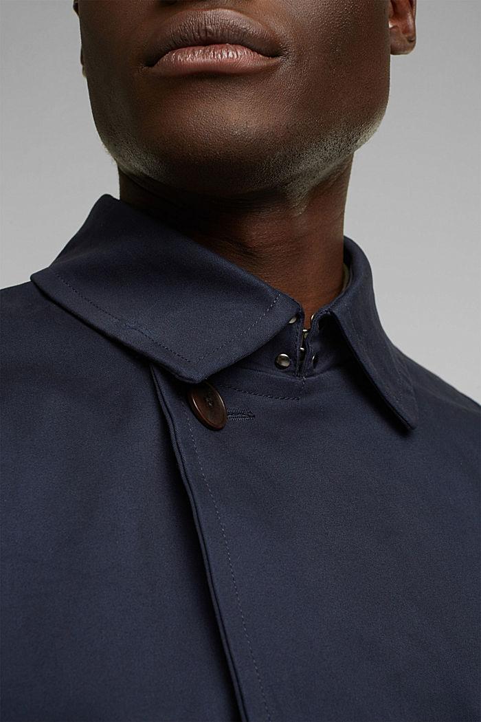 Trenchcoat aus Organic Cotton, DARK BLUE, detail image number 2