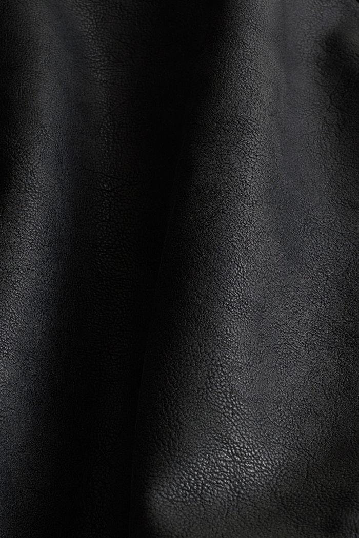 Faux leather biker jacket, BLACK, detail image number 5