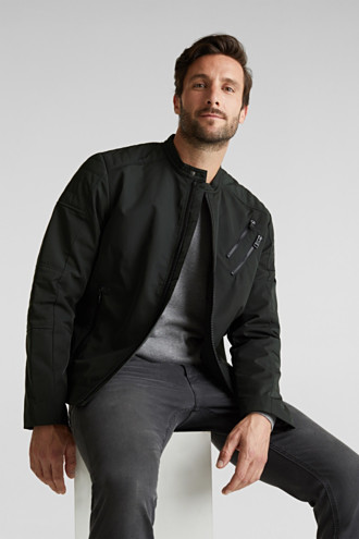 Lightly padded biker jacket