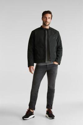 Lightly padded biker jacket, DARK KHAKI, detail